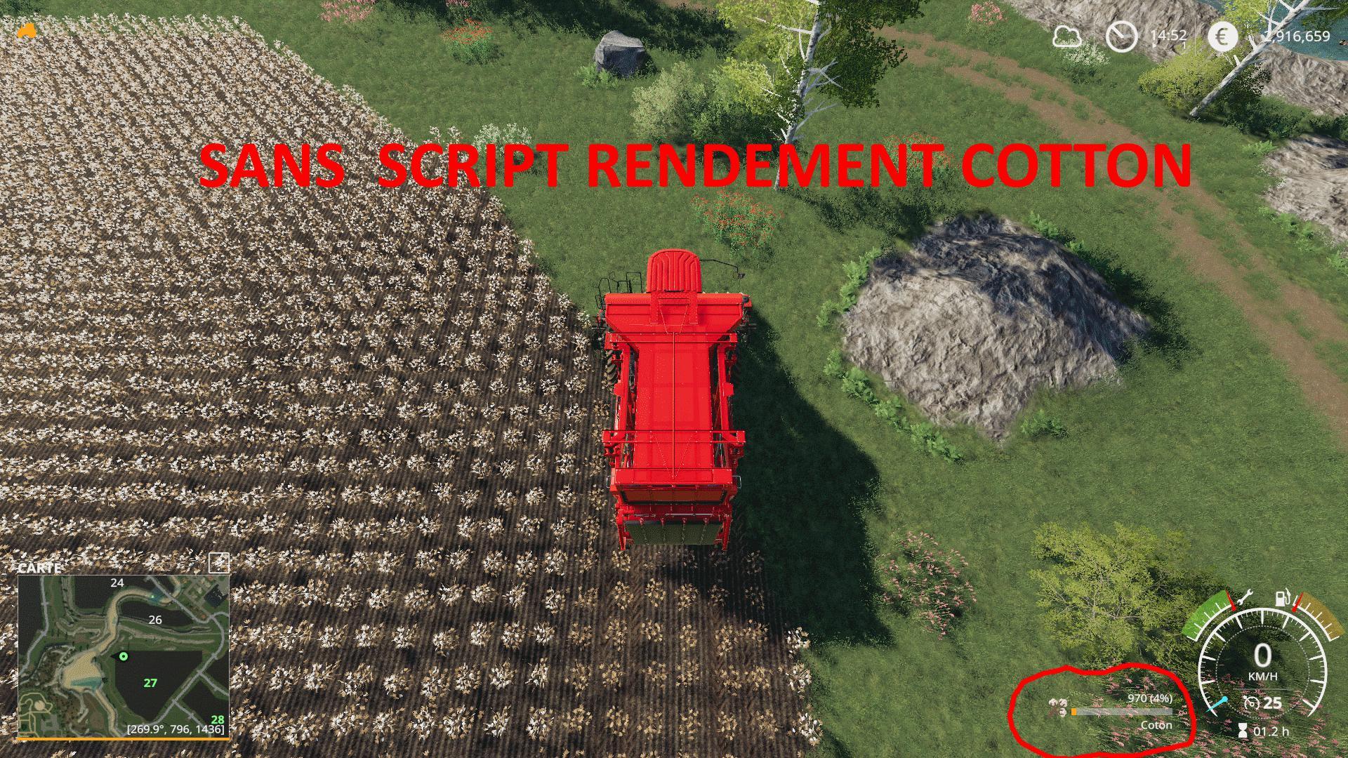 Rendement cotton v 1 0   FS19 mods, Farming simulator 19 mods