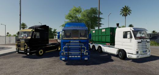 Scania 143M hooklift v 1.0