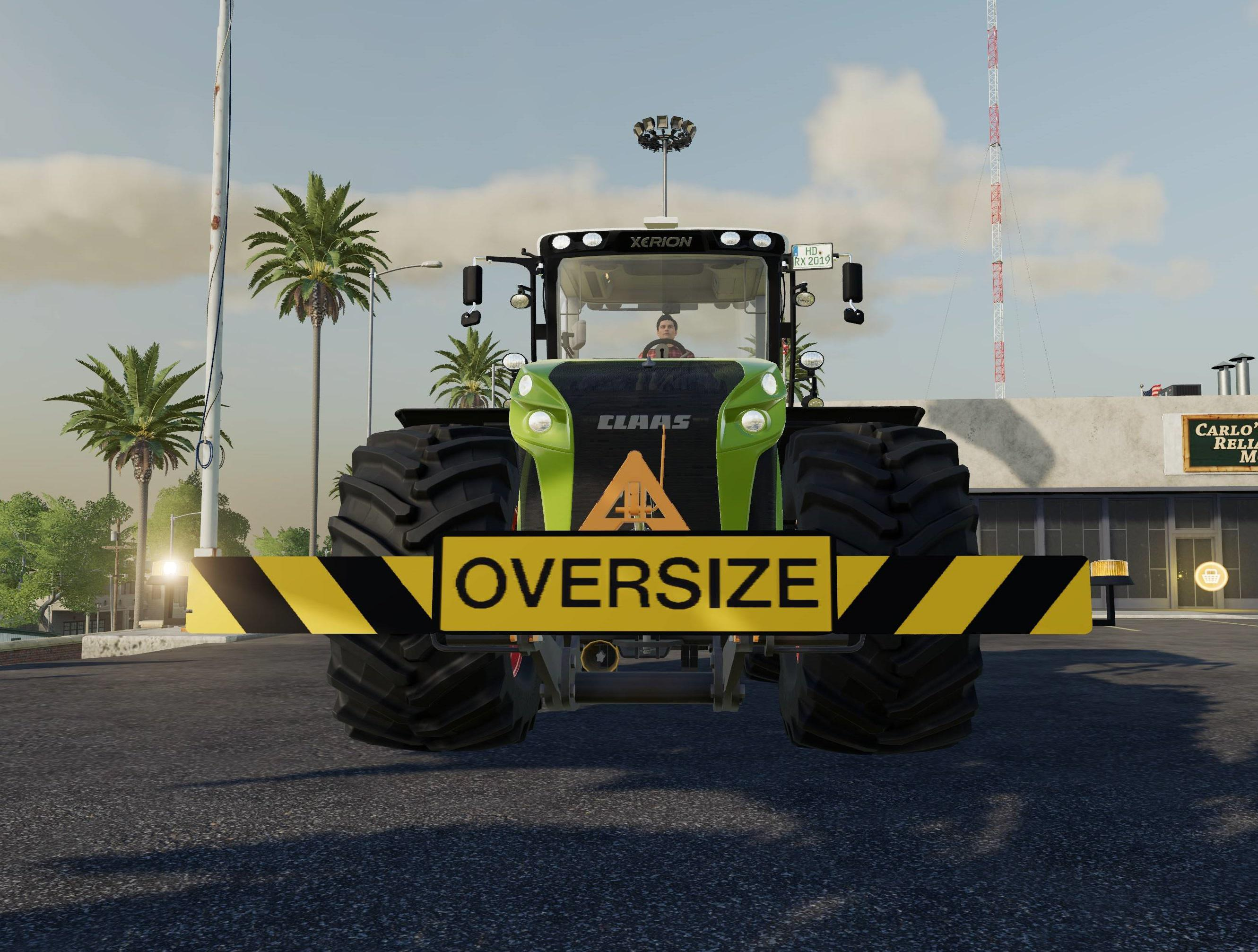 Three Point OversizedLoad Sign v 1.0
