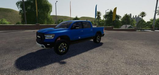 Dodge Ram 1500 blue flashing beacon v 1.0