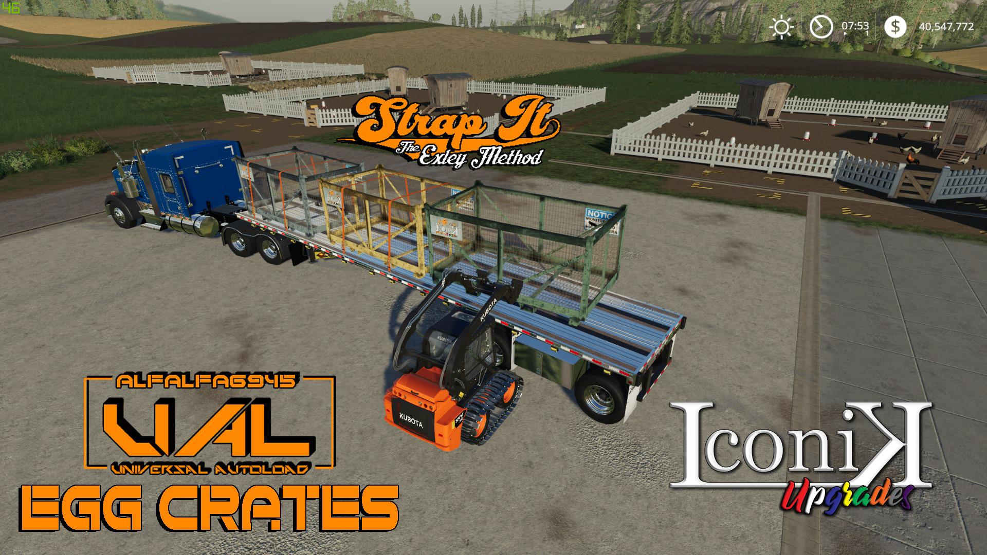Iconik UAL Egg Crates v 1 0 | FS19 mods, Farming simulator 19 mods