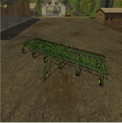 John Deere 3 Section Cultivator v 1.0