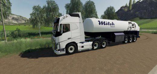 Milk transport semi-trailer v 1.0