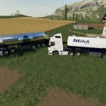 Milk transport semi-trailer v 1.0
