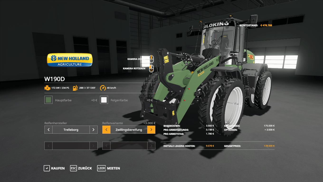 New Holland W190D Siloking v 1.0