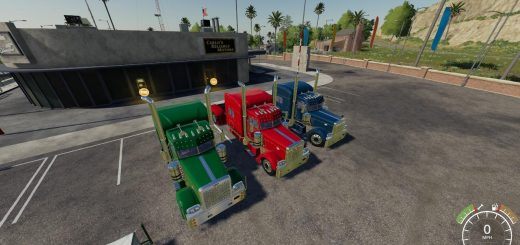 Peterbilt 379 Blue Red Green v1.0