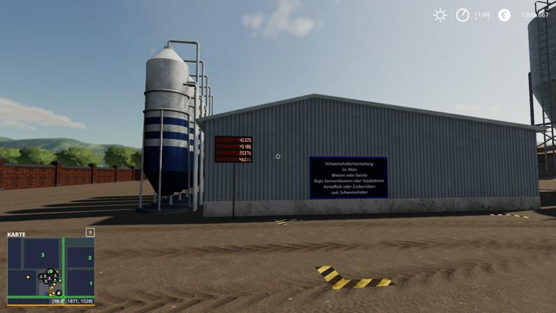 Placeable pig feed mixing plant with level indicators v 1.0.3