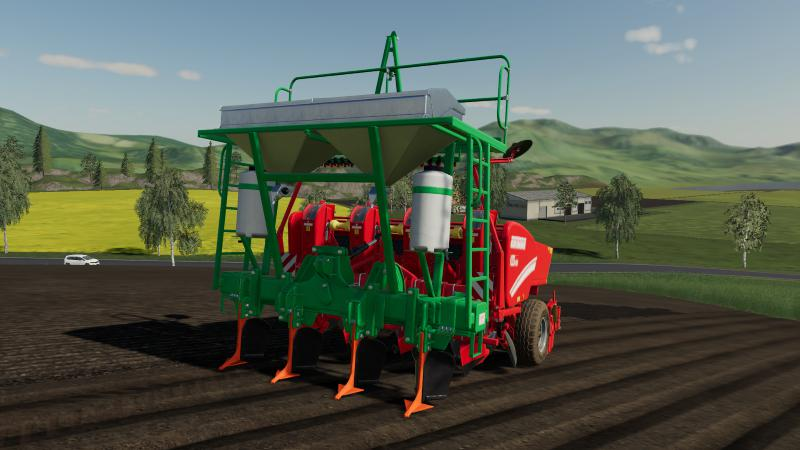 Gessner deep cultivator with fertilizer function v 1.0