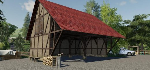 Timberframe Barn With Attic v 1.0