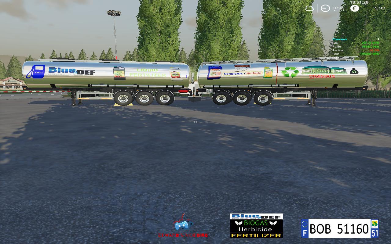 Trailer Digestate fertilizer By BOB51160 v 1 0 0 4 | FS19 mods