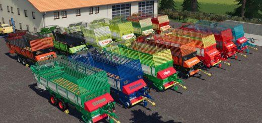 Old Forage Wagons Tandem v 1.0