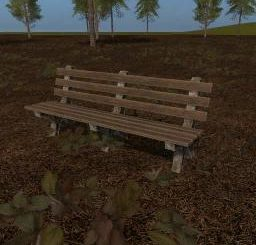 Placeable Park Bench v 1.0