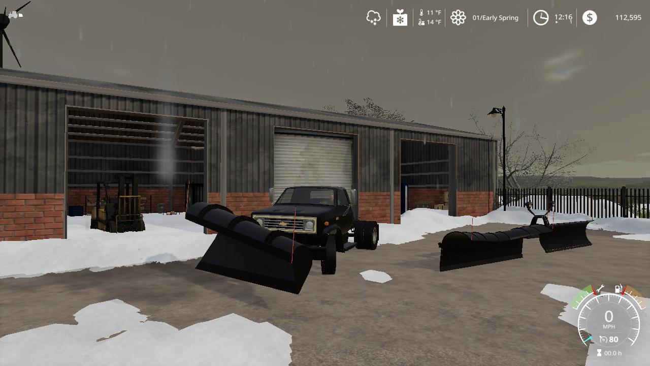 Chevy C70 Snow Plow Truck V1 0
