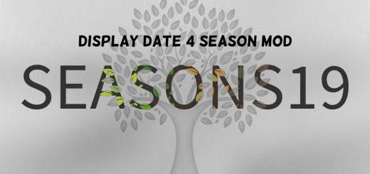 Display Date 4 Season Mod v1.0