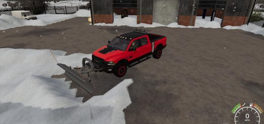Dodge Power Wagon plow v1.0