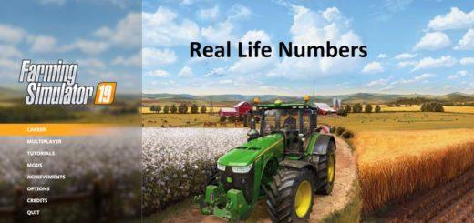 FS19 Rea lLife Numbers v1.2