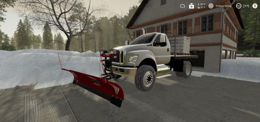 Ford F750 Flatbed Plow Truck v1.0