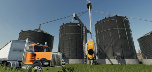 Large grain silo with dryer v1.0