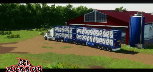 Rytrans B-Double Cattle Trailers v1.0