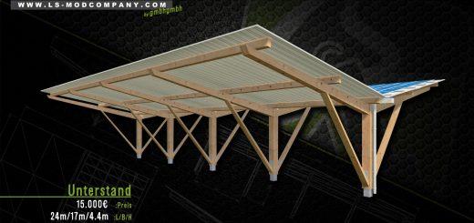 Unterstand mit optionaler Solaranlage v2.0