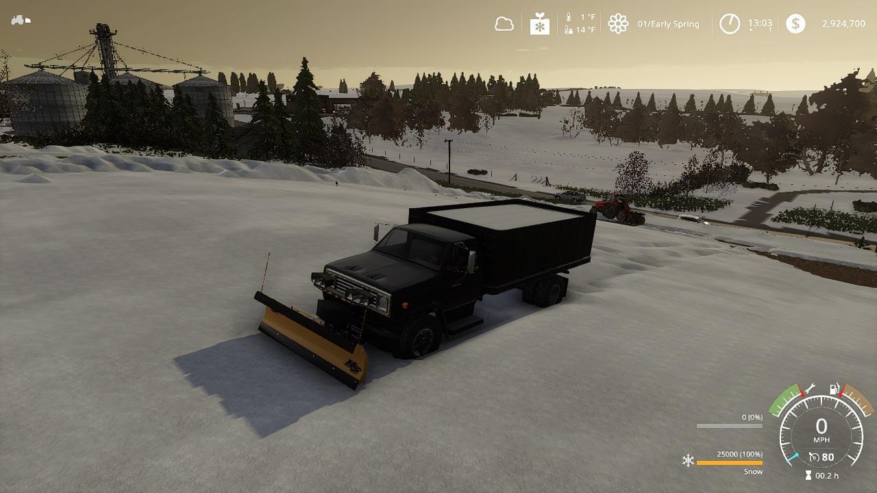 Chevy C70 grain plow truck v1.0