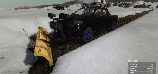 Pickup 2014 snow plow v1.0