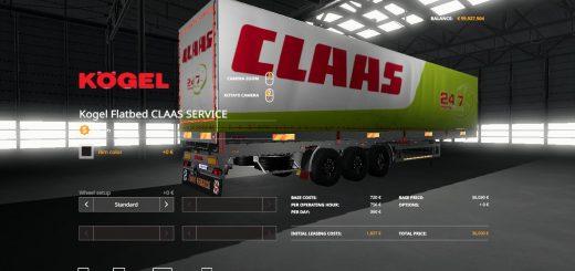 FS19 CLAAS SERVICE KOGEL AUTOLOADER TRAILER V1.0