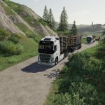 VOLVO FH16 WOODCHIP AND TRAILER V1.0