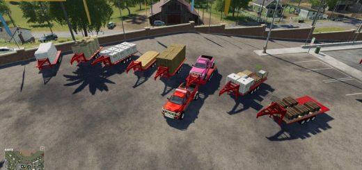 2014 PICKUP WITH SEMI-TRAILER AND AUTOLOAD V1.0