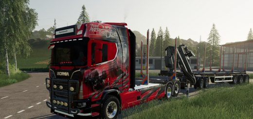 SCANIA WOODTRUCK AND TRAILER V1.1