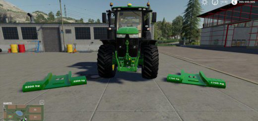 JOHN DEERE SERIES 7R WITH EZBALLAST UNDERGROUND WEIGHT V1.0