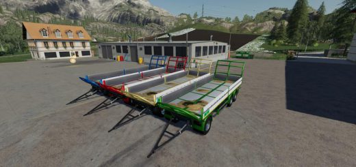 TRAILER 3 AXLE WITH PLATFORM FOR SCANIA S580 TRUCK V1.0