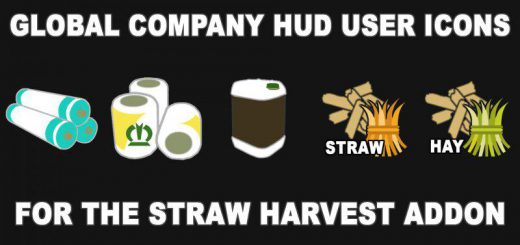 GLOBAL COMPANY HUD ICONS FOR THE STRAW HARVEST ADDON V1.0
