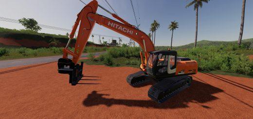 HITACHI ZX290LC BALE FORKS V1.0