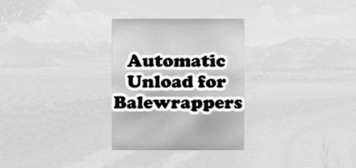 AUTOMATIC UNLOADING FOR BALE WRAPPERS V1.0.0.1