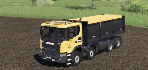 Scania XT 8x8 Tipper FS Miner's Orange Edition v1.0