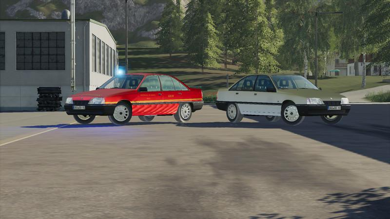 OPEL OMEGA A 1992 CIVIL AND FIRE DEPARTMENT V1.0