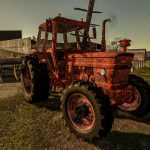 RUSTY TRACTOR WITH OLD PLOW V1.0