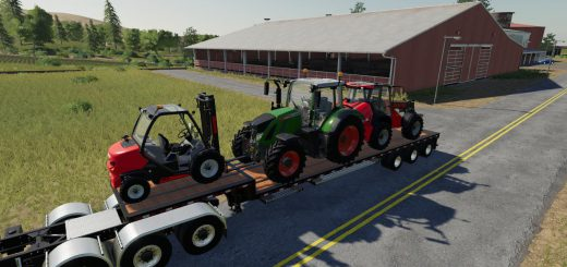 STEP DECK TRAILER IBM LPM85 V1.0