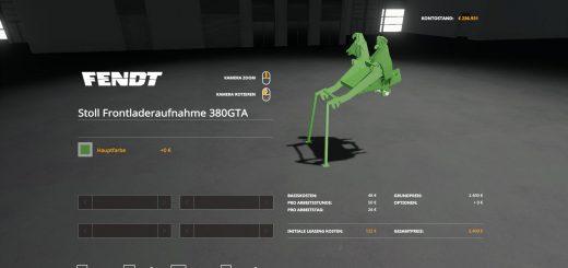 STOLL FL ADAPTER FOR FENDT F 380 GTA V1.0