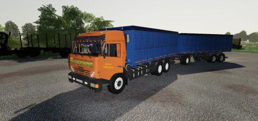 KAMAZ GRAIN TRUCK AND TRAILER V1.0